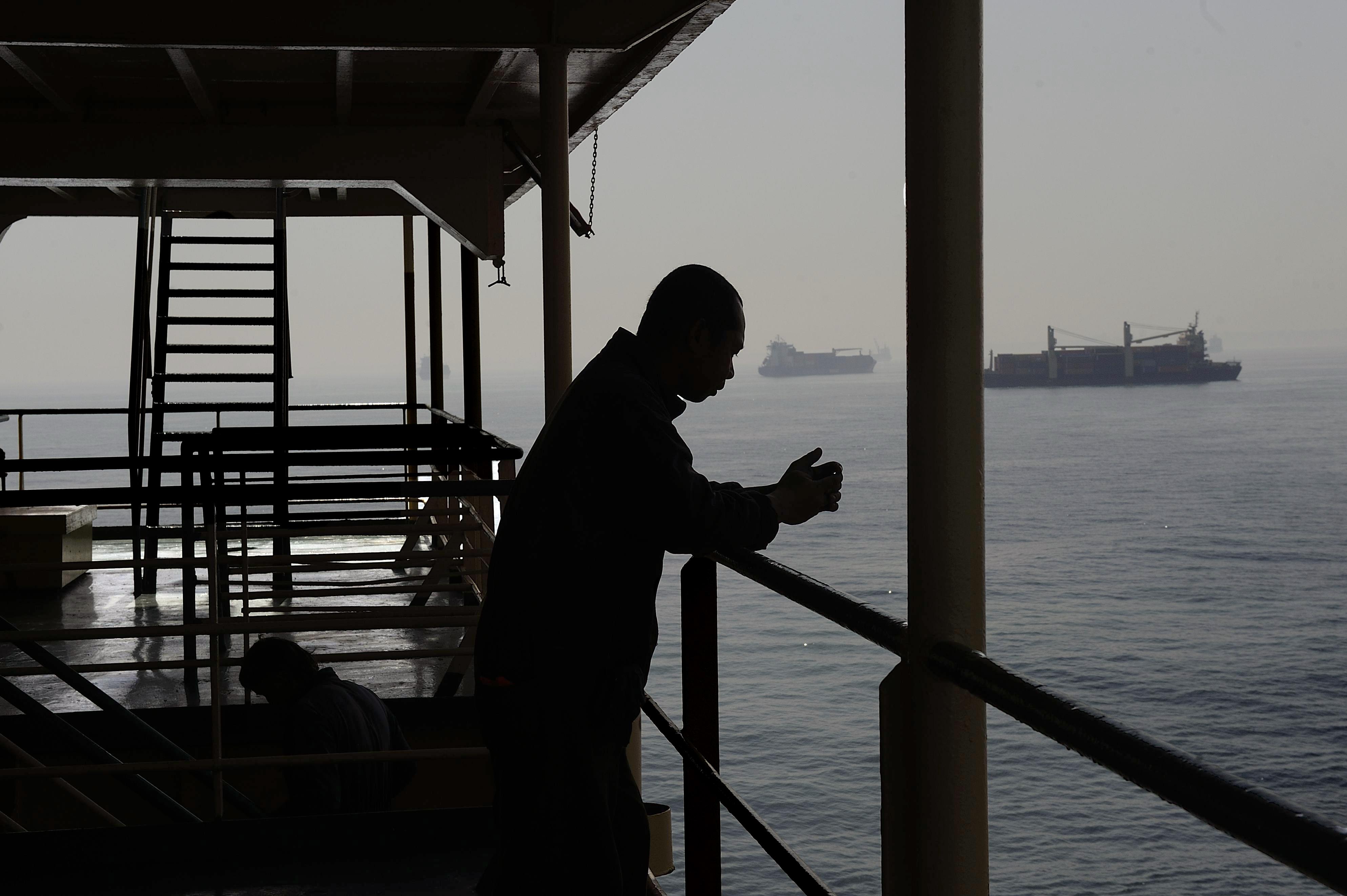 Il Mediterraneo, a bordo di un traghetto