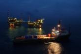 Photo illustration . Une plateforme Offshore de la compagnie italienne ENI, qui est chargée des deux gisements egyptiens Zohr et Nooros. Photo : ENI.